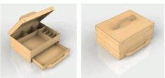 Drawer Box Laser Cut Template Free DXF File