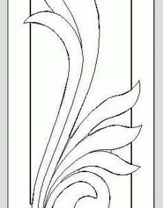 Floral Door Cnc Model Free DXF File