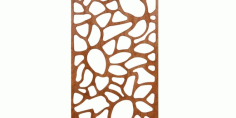 Laser Cut Panel Room Screen Free DXF File
