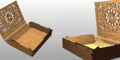 Laser Wooden Cut Box For Book Free DXF File