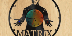 Matrix Cnc Cut Laser Clock Free DXF File