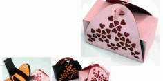 Paper Craft Valentins Gift Box Valentines Day Free DXF File