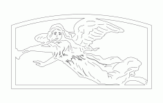 Angel Trumpet Free DXF File