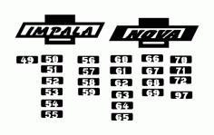 Chevy Logo Impala And Nova Free DXF File