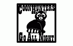 Coon Hunters Free DXF File