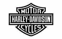 Harley D Logo Free DXF File