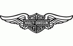 Harley Wings Free DXF File