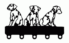 Puppies Coat Hook Free DXF File