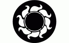 Sun Free DXF File