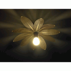 Flower Lamp Laser Cut Top Free DXF File