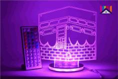 Laser Cut Ramadan Eid 3d Night Light Mecca Mosque Islamic Muslim Free DXF File