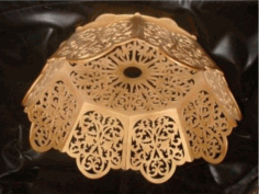 Lamp Shade Scroll Saw Laser Cut Plan Free CDR Vectors Art
