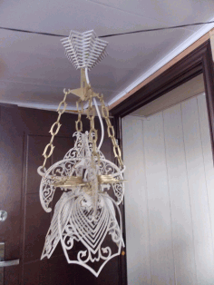 Laser Cut Ceiling Light Lamp 4mm Free CDR Vectors Art