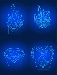 Laser Cut Diamond 3d Acrylic Lamps Template Free CDR Vectors Art