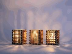 Night Light Lamps Laser Cut Template Free CDR Vectors Art
