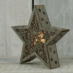 Star Light Lamp Laser Cut Template Free CDR Vectors Art