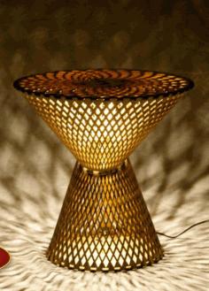 Table Lamp Laser Cut Free CDR Vectors Art