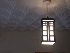 Tardis Lamp Laser Cut Free CDR Vectors Art