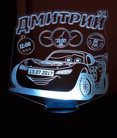 автомобили 3d ночной свет Template Free CDR Vectors Art