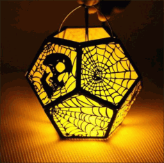 Halloween 3d Lamp Template Free DXF File