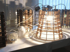 Cardboard Lamp Shade Template Free CDR Vectors Art