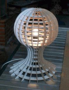 Lamp 3d Puzzle Template Free CDR Vectors Art