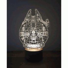 Millenium Falcon 3d Lamp Template Free CDR Vectors Art