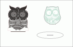 Sleepy Eyed Owl Night Light Template Free CDR Vectors Art