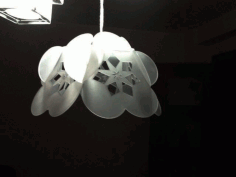 Flower Lamp Template Free DXF File
