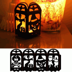 Halloween Lamp Template Design Free DXF File