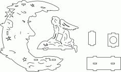 Lampara Luna Template Free DXF File