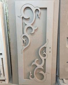 Wood Door Laser Cut Panel Design s6 Free DXF File