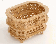 Wooden Decorative Storage Basket Free DXF File