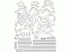 Dragon 3d Puzzle Free DXF File