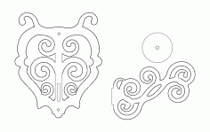 Wall Candle 3d Puzzle Free DXF File