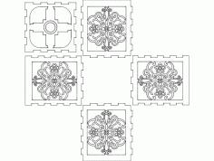 Luminaria Quadrada 6mm 3d Puzzle Free DXF File