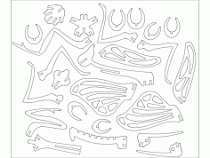 Mantiss 3d Puzzle Free DXF File