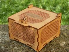 Laser Cut Cnc Basket Box Free CDR Vectors Art
