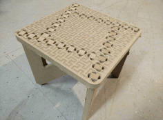 Laser Cut Cnc Binary Tree Foot Stool Router Plans Free CDR Vectors Art