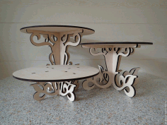 Laser Cut Cnc Decor Table Free CDR Vectors Art