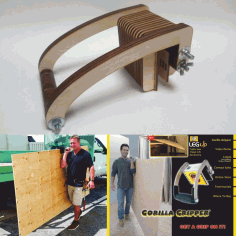 Laser Cut Cnc Dlya Perenoski Fanery – Plywood Carrying Device Free CDR Vectors Art
