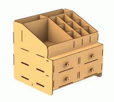 Laser Cut Cnc Organizer Box Free CDR Vectors Art