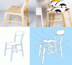 Laser Cut Cnc x-chair Router Plans Free CDR Vectors Art