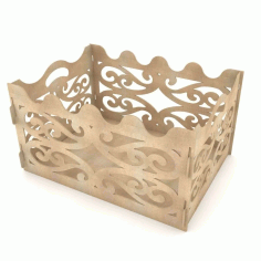 Gift Box For Party Laser Cut 3d Puzzle Free CDR Vectors Art