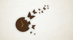 Laser Cut Butterfly Wall Clock 3d Puzzle Free CDR Vectors Art