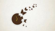 Laser Cut Butterfly Wall Clock 3d Puzzle Free CDR Vectors Art