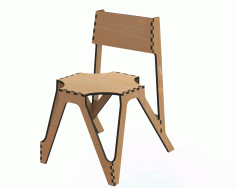 Laser Cut Decor Chair 3d Puzzle Free CDR Vectors Art