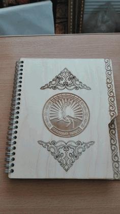 Laser Cut Notebook Cover 3d Puzzle Free CDR Vectors Art
