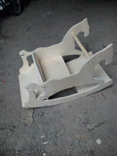 Laser Cut Rocking Horse Plywood 10mm 3d Puzzle Free CDR Vectors Art