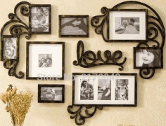 Love Picture Frame Set Wall Art Decoration 3d Puzzle Free CDR Vectors Art